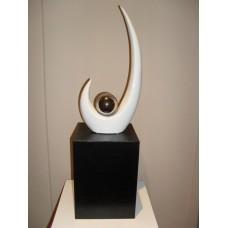 Sculptuur WIT Keramiek met asbestemming  (PMBC196888CB)